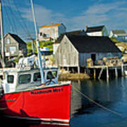 Harbour Mist In Peggy's Cove No 103 Poster