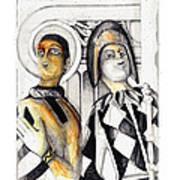 Harlequins Poster by Bob Salo