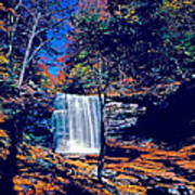 Harrison Wright Falls In Fall Poster