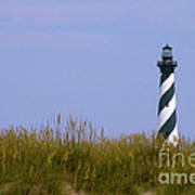 Hatteras Light Over The Dunes Poster