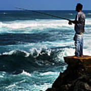 Hawaiian Fisherman Poster