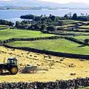 Hay Making, Lough Corrib, Co Galway Poster