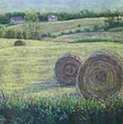 Haybales Durham County Poster by Ruth Greenlaw
