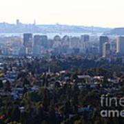 Hazy San Francisco Skyline Viewed Through The Oakland Skyline . 7d11341 Poster