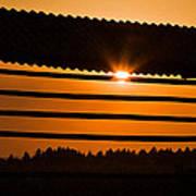 Hazy Summer Sunset Poster