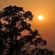 Hazy Sunset Poster