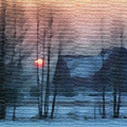 Hazy Winter Morning Poster by Anthony Caruso
