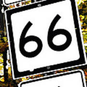 Heading West On Route 66 Poster