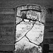 Headstone Of Lafayette Meeks Poster
