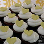 Heart Cupcakes Poster