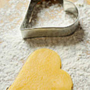 Heart Shaped Christmas Cookie Poster
