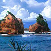 Hells Gate Rocks Near Calibishie Dominica Poster