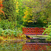 Henes Park Pond Bridge Poster