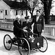 Henry Ford In His First Automobile Poster by Everett