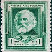 Henry W Longfellow Postage Stamp Poster