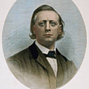 Henry Ward Beecher (1813-1887). American Clergyman. At Age 50: Steel Engraving, 19th Century Poster