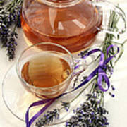 Herbal Tea And Lavender Poster
