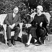 Herbert Hoover Seated With His Wife Poster