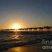 Hermosa Beach Sunset Poster