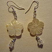 Hibiscus Hawaii Flower Earrings Poster by Jenna Green