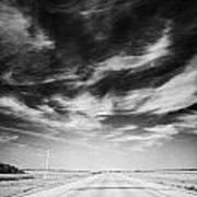 Highway Through Land Of The Living Skies Saskatchewan Canada Poster