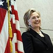 Hillary Clinton Speaks At The U.s Poster by Everett