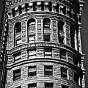 Historic Building In San Francisco - Black And White Poster