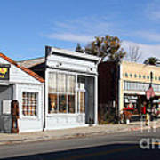 Historic Niles District In California Near Fremont . Main Street . Niles Boulevard . 7d10676 Poster by Wingsdomain Art and Photography
