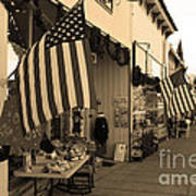 Historic Niles District In California Near Fremont . Main Street . Niles Boulevard . 7d10692 . Sepia Poster by Wingsdomain Art and Photography