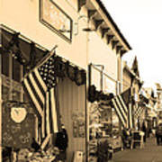 Historic Niles District In California Near Fremont . Main Street . Niles Boulevard . 7d10693 . Sepia Poster by Wingsdomain Art and Photography