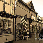 Historic Niles District In California Near Fremont . Main Street . Niles Boulevard . 7d10701 . Sepia Poster by Wingsdomain Art and Photography