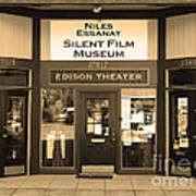 Historic Niles District In California Near Fremont . Niles Essanay Silent Film Museum.7d10684.sepia Poster by Wingsdomain Art and Photography