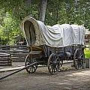Historical Frontier Covered Wagon Poster