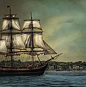 Hms Bounty Poster by Robin-Lee Vieira