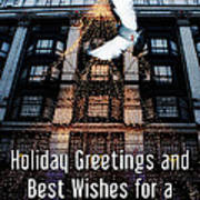 Holiday Greetings And Best Wishes For A New Year Of Happiness In A World Of Peace Poster