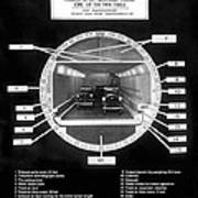 Holland Tunnel Section View Poster