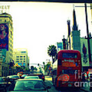 Hollywood Boulevard In La Poster