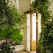 Home Entrance And Courtyard Poster