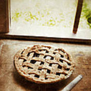 Home Made Pie Cooling By Open Window Poster