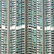 Hong Kong Residential Building Poster