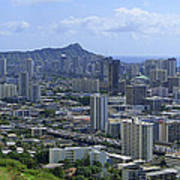 Honolulu And Diamond Head Poster