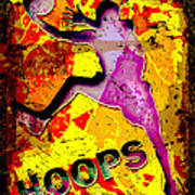 Hoops Basketball Player Abstract Poster by David G Paul