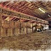 Horse Barn Barbour County Poster