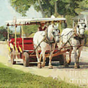 Horse Carriage Mackinac Island Michigan Poster