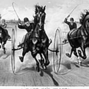 Horse Racing, 1890 Poster