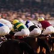 Horse Racing, Phoenix Park, Dublin Poster
