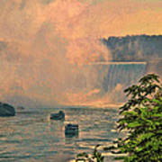 Horseshoe Falls Canadian Niagara Falls Poster