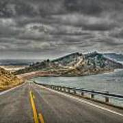 Horsetooth Reservoir Stormy Skies Hdr Poster by Aaron Burrows