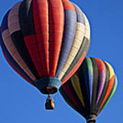 Hot Air Ballons Floating High Poster
