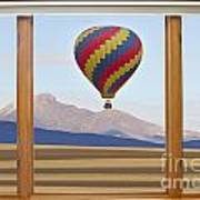 Hot Air Balloon Colorado Wood Picture Window Frame Photo Art Vie Poster